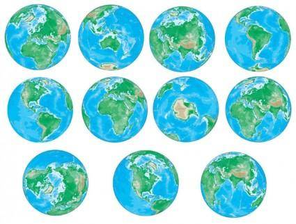 Various angles of the earth vector