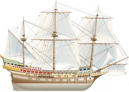 free vector Ancient sailing vector