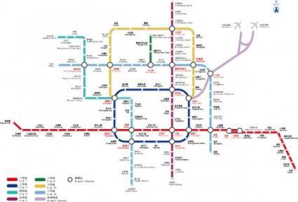 free vector Beijing subway line diagram of vector 2009 edition