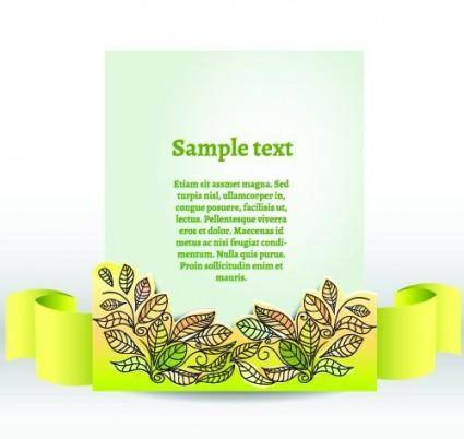 Clip style text template vector 1