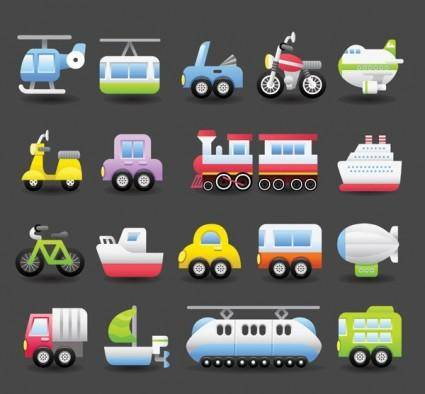 free vector 1 vector cute transport