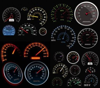 free vector Automobile mileage rate table vector