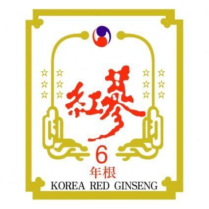 free vector Korea red ginseng
