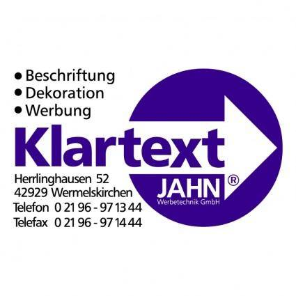 free vector Klartext jahn werbetechnik