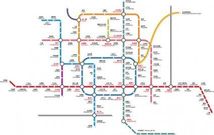 free vector Beijing subway traffic vector