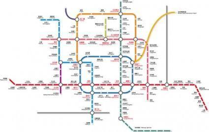 free vector Beijing subway traffic vector