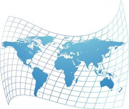 free vector Distorted world map vector