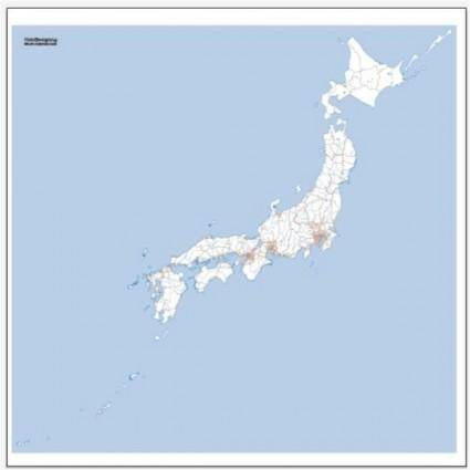 Japan rail network map vector