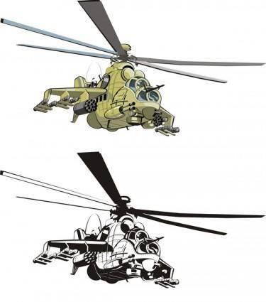 free vector Combat helicopters doe vector