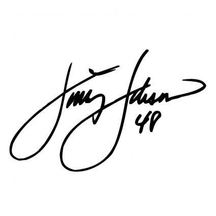 free vector Jimmie johnson signature