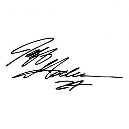 Jeff gordon signature