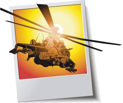 Combat helicopters apache vector
