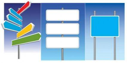 free vector Road signs vector