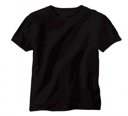Vector black tshirt