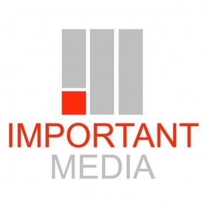 free vector Important media
