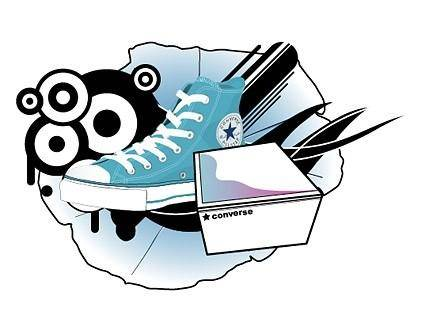 Converse converse theme design elements vector