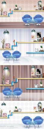 free vector The room furnishings vector fashion