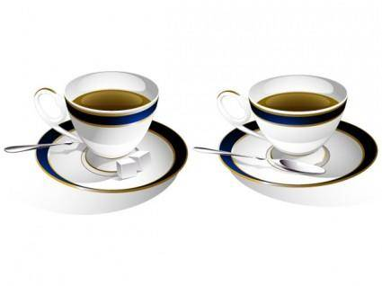 free vector One pair of coffee cup clip art