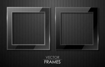 free vector Black cool border 04 vector