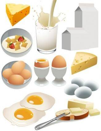 Nutritious breakfast vector