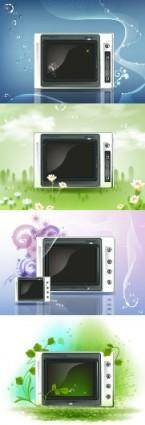 free vector Clear tv screen vector