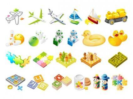 free vector The third children toys vector