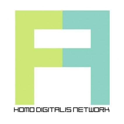 free vector Homo digitalis network
