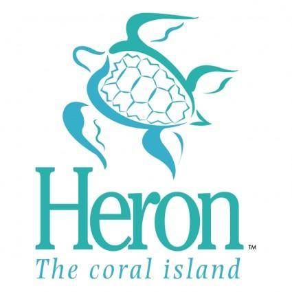 free vector Heron the coral island 0
