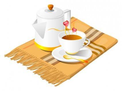 free vector Combination of vector coffee