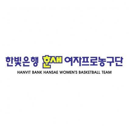 Hanvit bank hansae womens basketball team