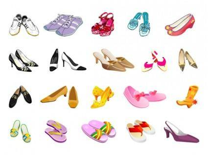 free vector Colors of different styles of shoes vector