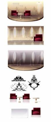 Fashion vector 3 indoor home