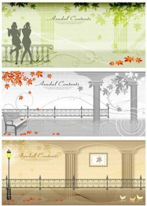 free vector Autumn street vector