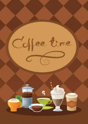 free vector Coffee time vector 2