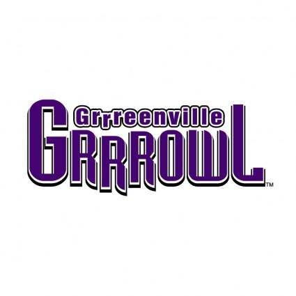 free vector Greenville grrrowl 0
