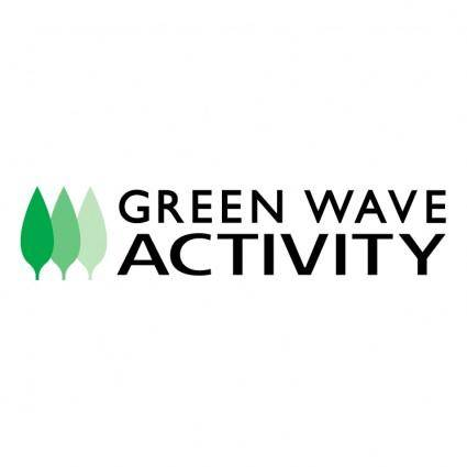 free vector Green wave activity