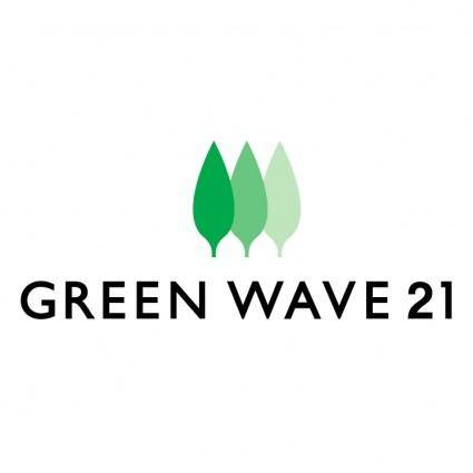 free vector Green wave 21