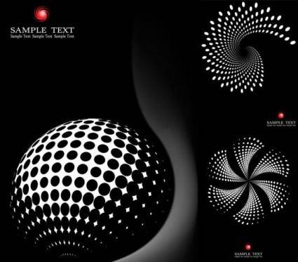 free vector Practical dot graphics vector