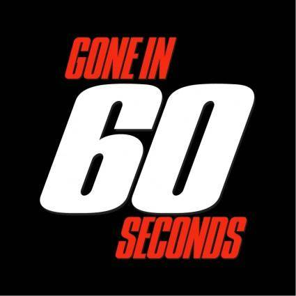 free vector Gone in 60 seconds
