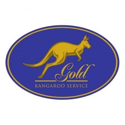 free vector Gold kangaroo service