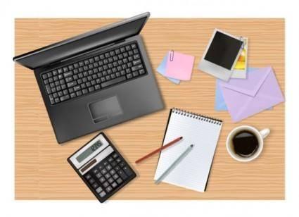 free vector Vector office desktop