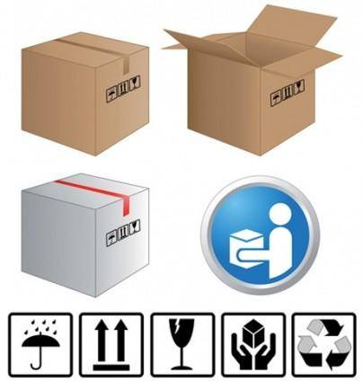 free vector Cartons and carton labels vector