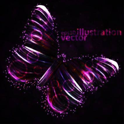 free vector Colorful butterfly 01 vector