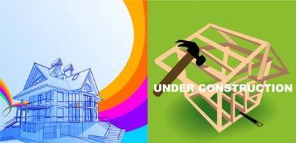 free vector Two constructionrelated clip art