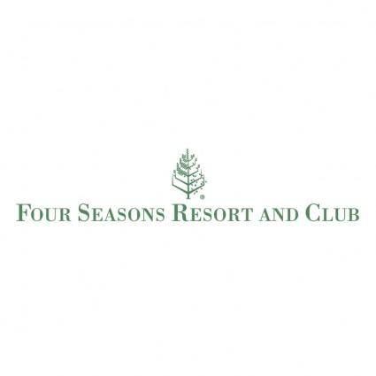 free vector Four seasons resorts and club