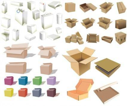 free vector Boxes and cartons vector