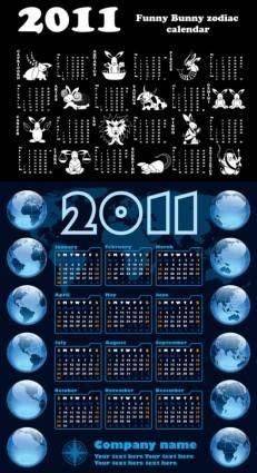 free vector Calendar year of the rabbit 2011 vector