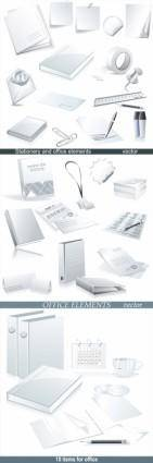 free vector Business office supplies vector