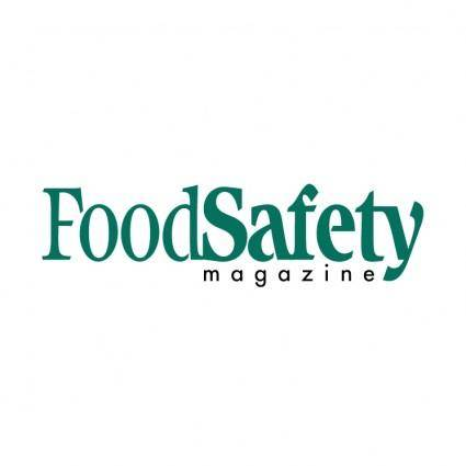 free vector Food safety magazine