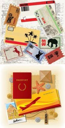 free vector Travel theme vector
